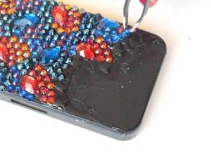 Kristal Taşlarla Telefon Kılıfı Yapılışı 11