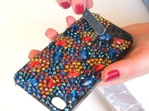 Kristal Taşlarla Telefon Kılıfı Yapılışı 14