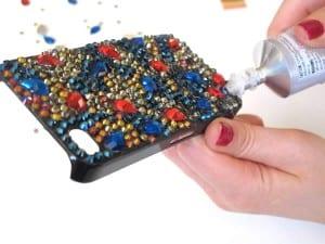 Kristal Taşlarla Telefon Kılıfı Yapılışı 15