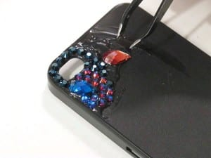Kristal Taşlarla Telefon Kılıfı Yapılışı 5