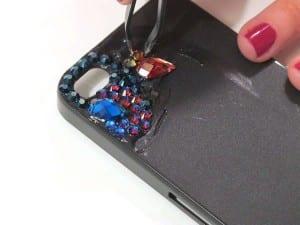 Kristal Taşlarla Telefon Kılıfı Yapılışı 6