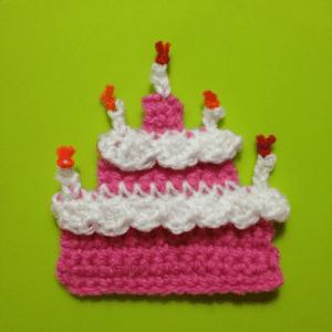 Örgü Aplike Pasta Yapılışı 12