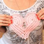 Örgü Kalp Yapılışı