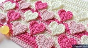 Örgü Kalpli Battaniye Yapılışı 15