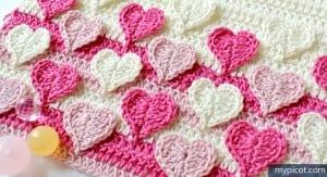 Örgü Kalpli Battaniye Yapılışı 17