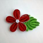 Quilling Çiçek ve Yaprak Yapılışı 9