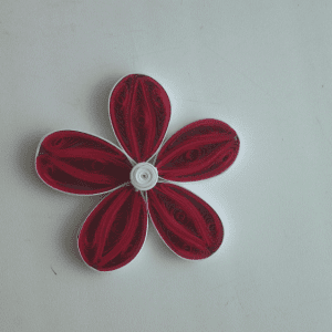 Quilling Çiçek ve Yaprak Yapılışı 6