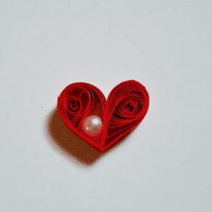 Quilling Kalp Kolye Yapılışı 1