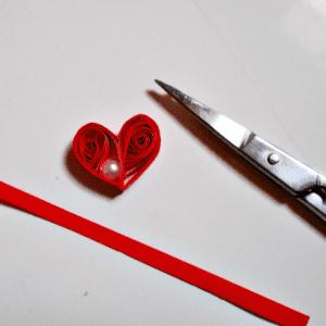 Quilling Kalp Kolye Yapılışı 7