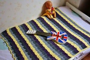 Renkli Bebek Battaniyesi Yapılışı 38