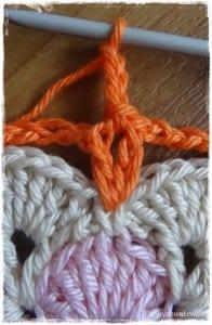 Tığ İşi Renkli Bebek Battaniyesi Yapılışı 34