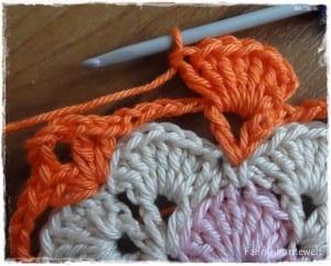 Tığ İşi Renkli Bebek Battaniyesi Yapılışı 35