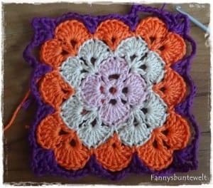 Tığ İşi Renkli Bebek Battaniyesi Yapılışı 38