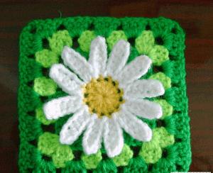 Ayçiçeği Motifli Bebek Battaniyesi Modeli 1