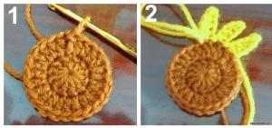Ayçiçeği Motifli Bebek Battaniyesi Modeli 2