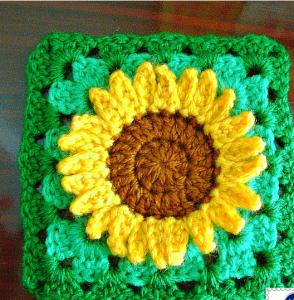 Ayçiçeği Motifli Bebek Battaniyesi Modeli Yapılışı 1