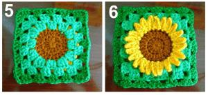 Ayçiçeği Motifli Bebek Battaniyesi Modeli Yapılışı