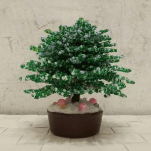 Kum Boncuk ile Çam Ağacı Yapımı