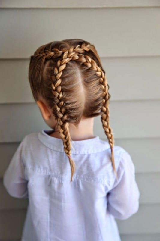 Çocuk Saçı Örgü Modelleri 24