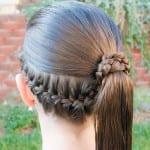 Çocuk Saçı Örgü Modelleri 44