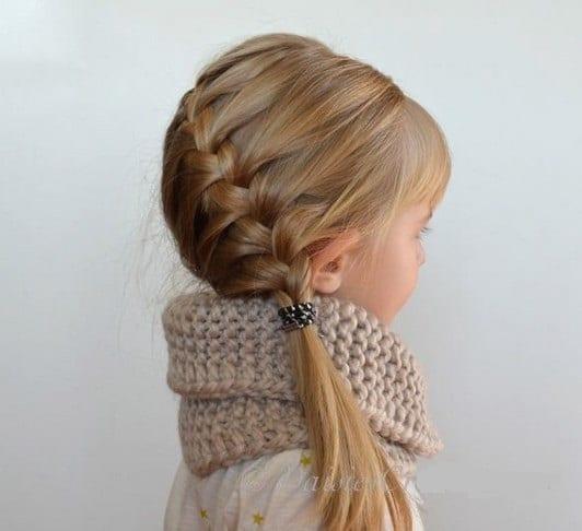 Çocuk Saçı Örgü Modelleri 62