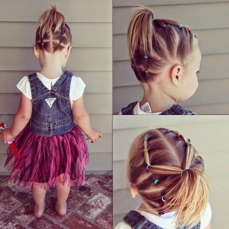 Çocuk Saçı Örgü Modelleri 8