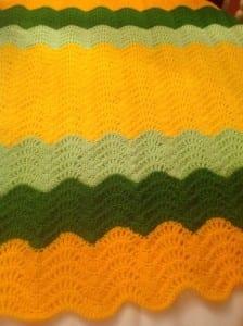 Dalgalı Zikzak Bebek Battaniyesi Örneği 1