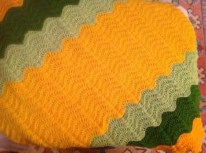 Dalgalı Zikzak Bebek Battaniyesi Örneği 3