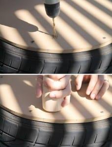 DIY, Araba Lastiğinden Sehpa Yapımı 2