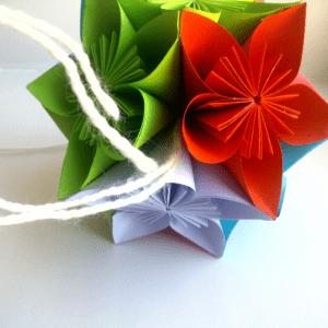 Kağıttan Origami Çiçek Yapılışı 9