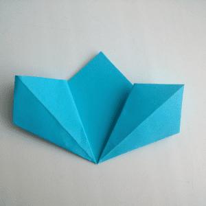 Kağıttan Origami Çiçek Yapılışı 12