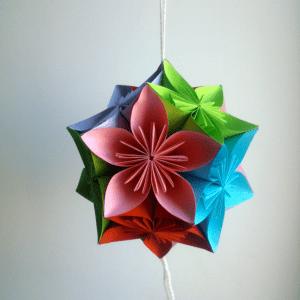 Kağıttan Origami Çiçek Yapılışı 14