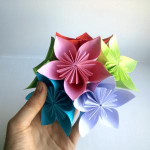 Kağıttan Origami Çiçek Yapılışı 2