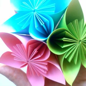 Kağıttan Origami Çiçek Yapılışı 5