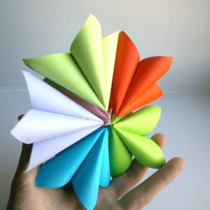 Kağıttan Origami Çiçek Yapılışı 7