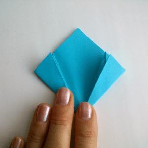 Kağıttan Origami Çiçek Yapılışı 8