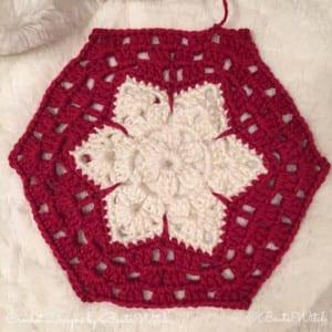 Kar Tanesi Bebek Battaniyesi Yapılışı 10
