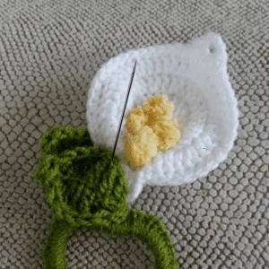 Lily Çiçek Saç Tokası Yapılışı 5