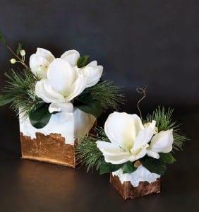Mermer Görünümlü Çiçek Aranjman Yapılışı