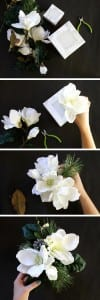 Mermer Görünümlü Çiçek Aranjman Yapılışı 2