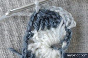 Motifli Örgü Şapka Yapılışı 25