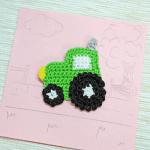 Örgü Aplike Traktör Yapılışı 3