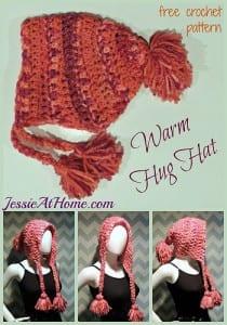 Sıcak Tutan Tığ İşi Örgü Şapka Modeli 2