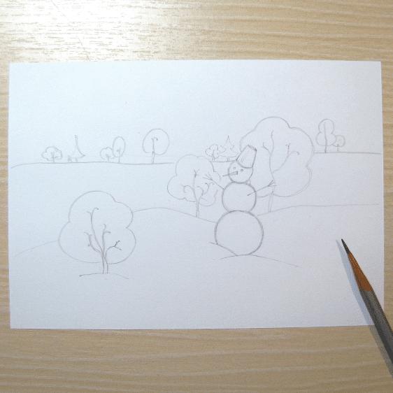 Sulu Boya Ile Kış Resmi Nasıl çizilir Mimuucom