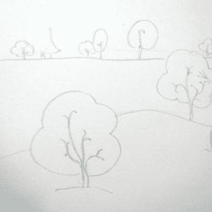 Sulu Boya İle Kış Resmi Nasıl Çizilir ? 14