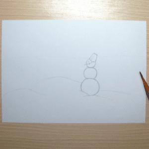 Sulu Boya İle Kış Resmi Nasıl Çizilir ? 15