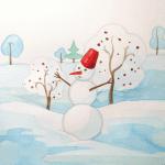 Sulu Boya İle Kış Resmi Nasıl Çizilir ? 17