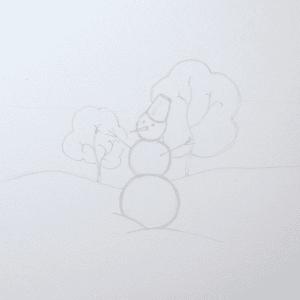 Sulu Boya İle Kış Resmi Nasıl Çizilir ? 3