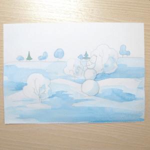 Sulu Boya İle Kış Resmi Nasıl Çizilir ? 4