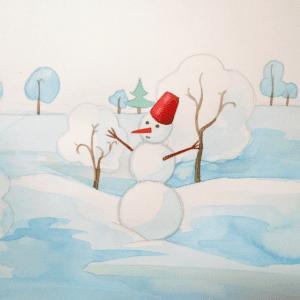 Sulu Boya İle Kış Resmi Nasıl Çizilir ? 5